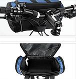 Велосипедна сумка на кермо чорно-синя, фото 2