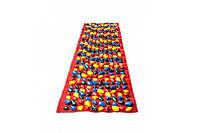 Массажный коврик с цветными камнями 200 х 40 см / коврик детский камешки