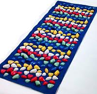 Массажный коврик с цветными камнями 100 х 40 см / коврик детский камешки