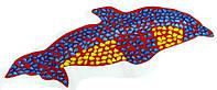 Массажный коврик с цветными камнями Дельфин 100 х 40 см / коврик детский камешки