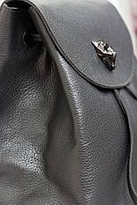 Красивый кожаный рюкзак серебро, фото 2