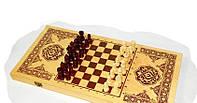 Набор 3 в 1 нарды, шашки и шахматы 49 х 49 см