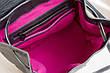 Красивый кожаный рюкзак серебро, фото 5