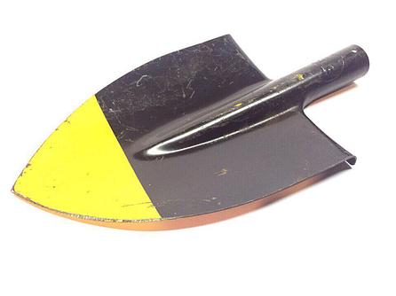 Лопата штыковая желто-чёрная