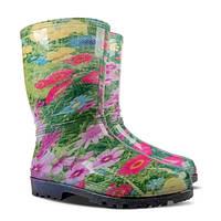 Женские резиновые сапоги Demar Rainny Print E (Цветы) размеры 36-41