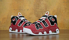 Кроссовки мужские Найк Nike Air More Uptempo Black/White/Red. ТОП Реплика ААА класса., фото 3