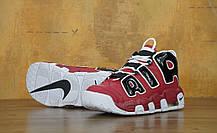 Кроссовки мужские Найк Nike Air More Uptempo Black/White/Red. ТОП Реплика ААА класса., фото 2