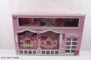 Кукольный дом 221 с куклами мебелью набатарейкахмузыкальный вкоробке47*10*38