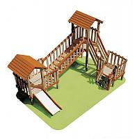 Деревянный детский игровой комплекс