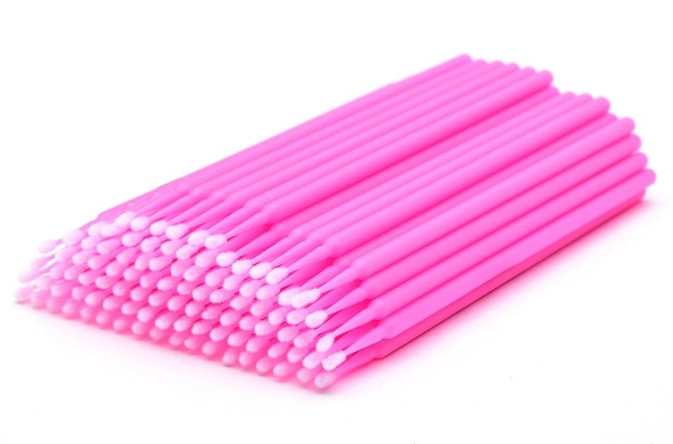 Микробраши в пакете, розовые, 100 шт