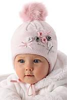 Детская теплая шапочка для девочки Камилка, MARIKA (Польша)