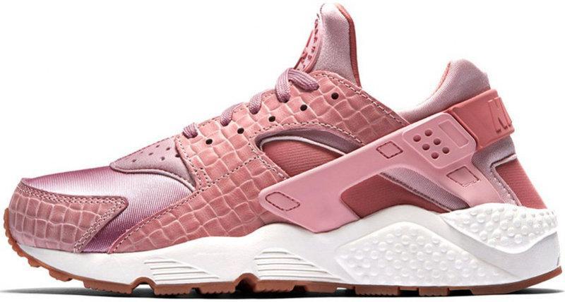 Кроссовки женские Найк Nike Air Huarache Run Premium Pink Glaze Pearl. ТОП Реплика ААА класса.