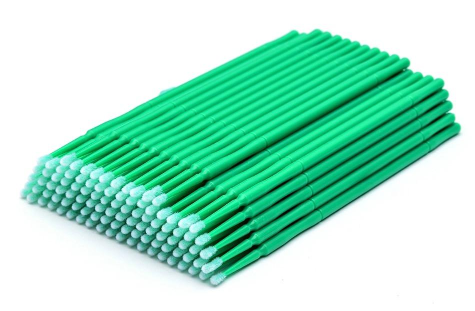 Микробраши в пакете, зелёные, 100 шт