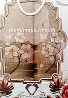 """Подарочный набор полотенец """"Цветок"""" TWO DOLPHINS, Турция, коричневый"""