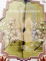 """Подарочный набор полотенец """"Цветок"""" TWO DOLPHINS, Турция, оливковый"""