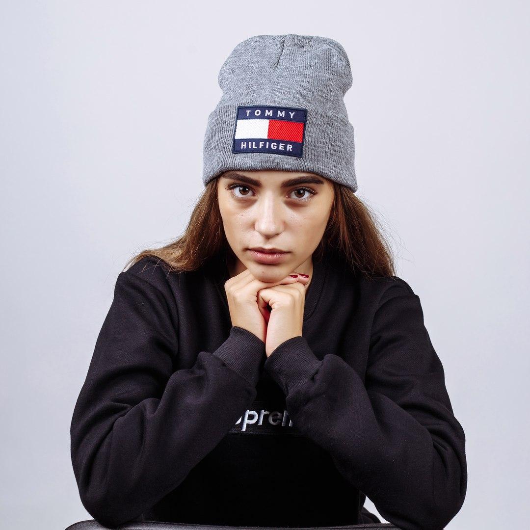 Шапка жіноча Tommy Hilfiger Grey - Інтернет-магазин одягу та аксесуарів