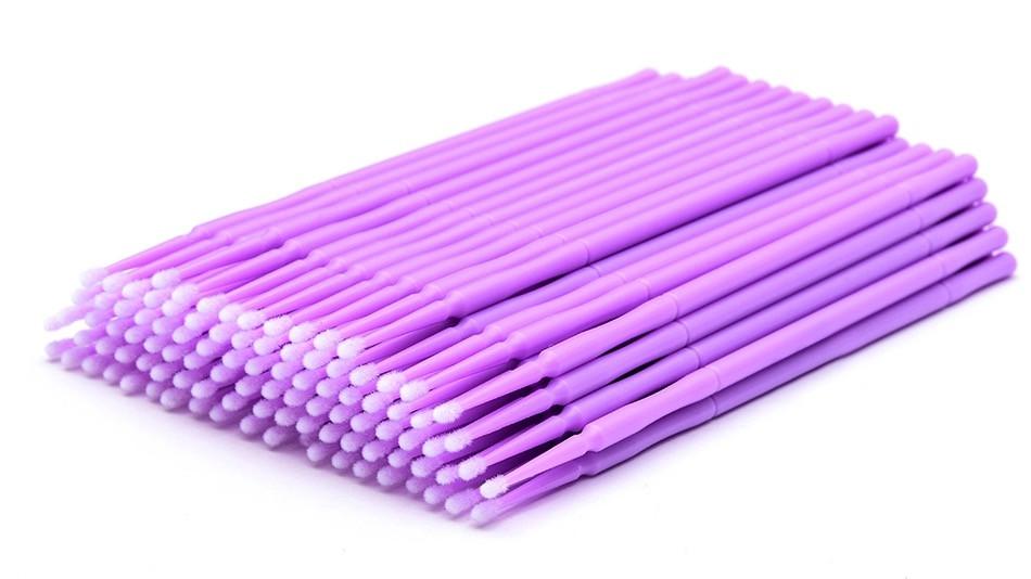 Микробраши в пакете, фиолетовые, 100 шт