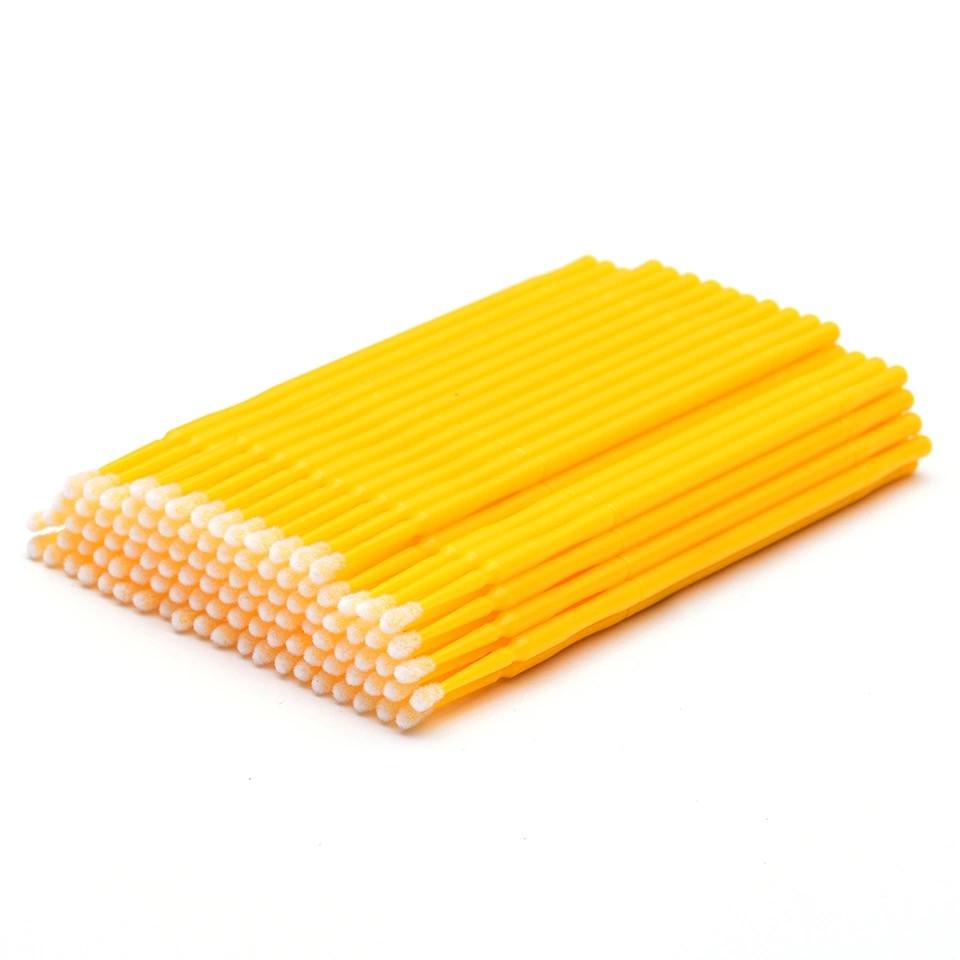 Микробраши в пакете, жёлтые, 100 шт