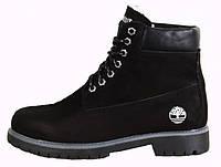 Женские ботинки Timberland на меху, черные