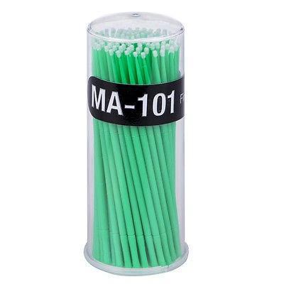 Микробраши в тубусе, зелёные, 100 шт