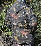 Куртка зимняя длинная Дубок с капюшоном мех + синтепон р.48-58, фото 5