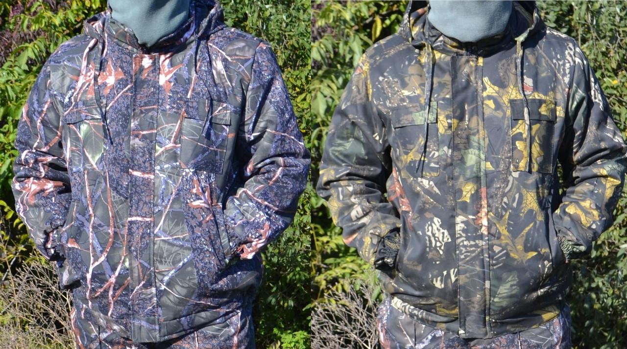 Куртка зимняя под резинку Дубок с капюшоном мех + синтепон р.48-58