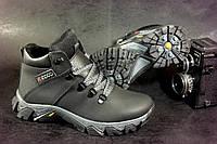 Подростковые кожаные зимние ботинки ECCO 32-39