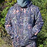 Куртка зимняя под резинку Дубок с капюшоном мех + синтепон р.48-58, фото 2