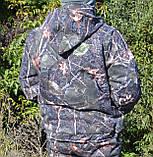 Куртка зимняя под резинку Дубок с капюшоном мех + синтепон р.48-58, фото 3