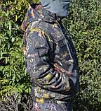 Куртка зимняя под резинку Дубок с капюшоном мех + синтепон р.48-58, фото 7