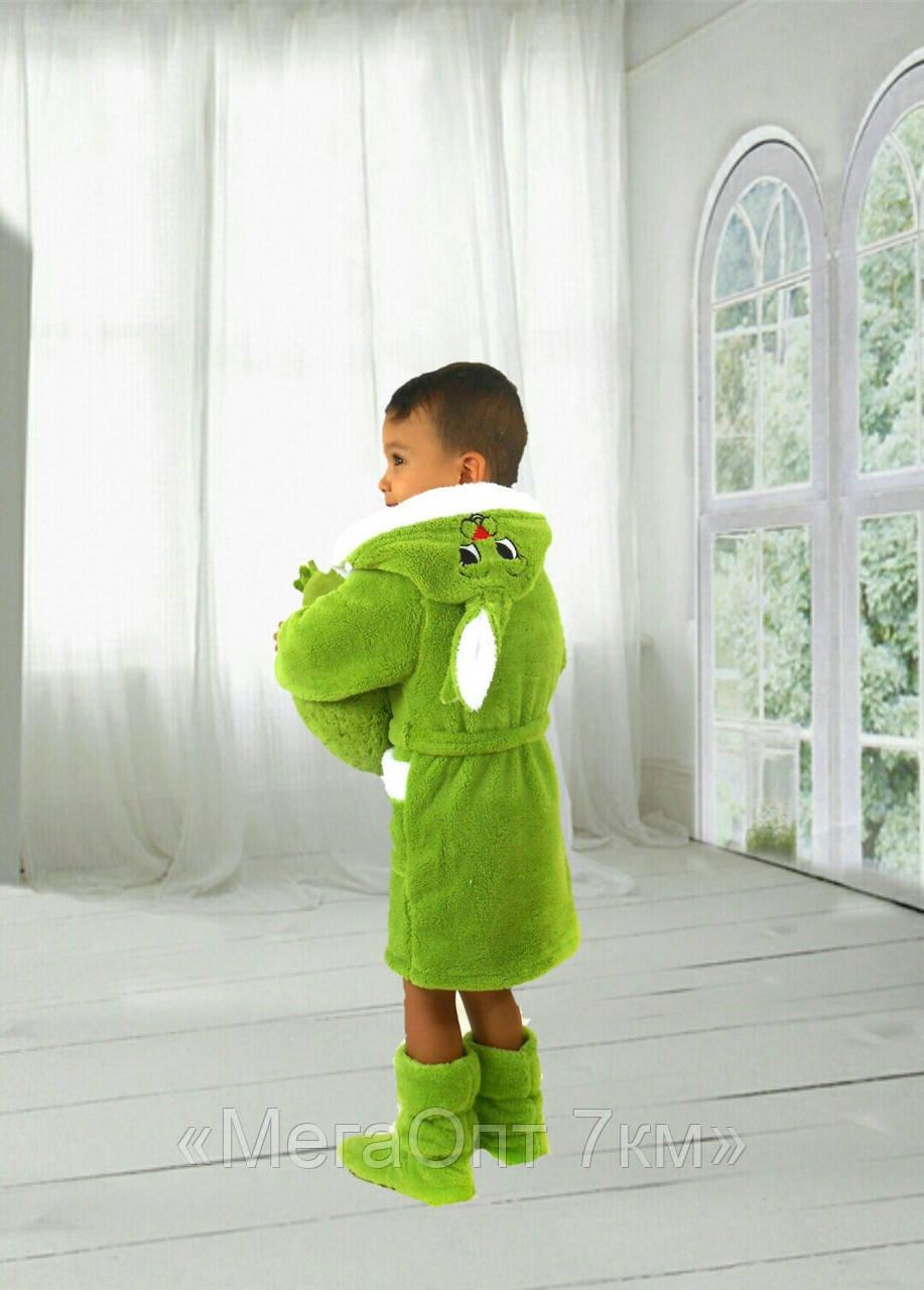 Халат детский (90-98, 100-110, 120-125) — махра купить оптом и в Розницу в одессе 7км - «МегаОпт 7км» в Одессе