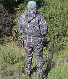 Куртка зимняя под резинку Дубок с капюшоном светлый мех + синтепон р.48-58, фото 2