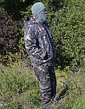 Куртка зимняя под резинку Дубок с капюшоном светлый мех + синтепон р.48-58, фото 4