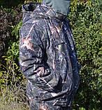 Куртка зимняя под резинку Дубок с капюшоном светлый мех + синтепон р.48-58, фото 5