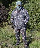Куртка зимняя под резинку Дубок с капюшоном светлый мех + синтепон р.48-58, фото 7