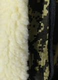 Куртка зимняя под резинку Дубок с капюшоном светлый мех + синтепон р.48-58, фото 8