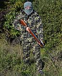 Костюм зимний куртка длинная + штаны Пиксель р.48-58, фото 3