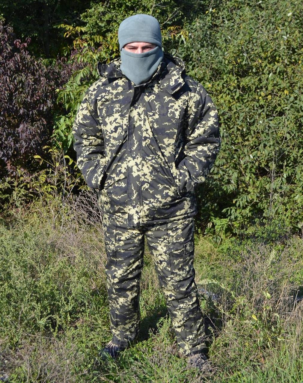 Костюм зимний куртка длинная + штаны Пиксель р.48-58