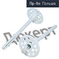 Термодюбель 10х260 с металлическим гвоздем и термоголовкой