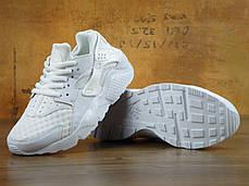 Кроссовки женские Найк  Nike Air Huarache Silver White. ТОП Реплика ААА класса., фото 3