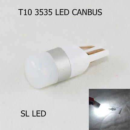LED лампа в габарит SL LED, с обманкой, can bus, цоколь W5W(T10)  Osram led 3030 12 В. Белый 6000K, фото 2