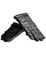 Сенсорные женские перчатки МариFashion трикотаж/тонкая махра оптом 10 пар
