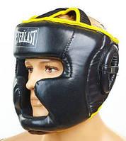 Шлем боксерский EVERLAST с полной защитой EV-6001-BK черно-желтый