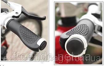 Эргономические велосипедные грипсы с замками (с белым), фото 2
