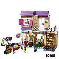 Конструктор Bela friends 10495 Овощной рынок в Хартлейке (389 дет., 2 фигурки + котик)