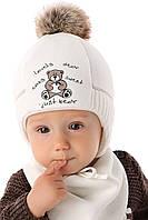 Теплая детская шапочка для мальчика Мишка Бартек, MARIKA (Польша)