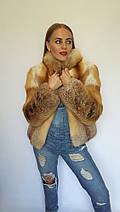 Полушубок из цельного меха лисы с длинным рукавом, полушубки из меха лисы от производителя, фото 2