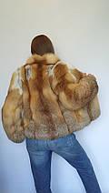 Полушубок из цельного меха лисы с длинным рукавом, полушубки из меха лисы от производителя, фото 3