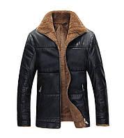 Куртка кожаная мужская зимняя на меху