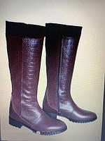 Женские сапоги кожаные натуральные 1068 АР